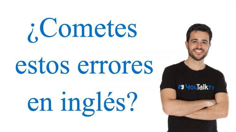 ¿cometes estos errores en inglés?