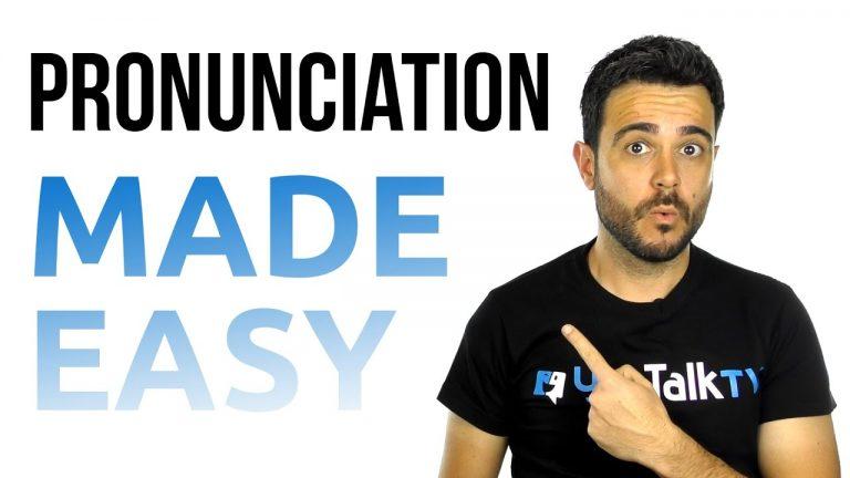 La pronunciación en inglés es fácil. Tú también puedes