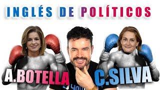 foto ilustrativa sobre nuestro podcast referente al inglés de la presidenta de la diputación de Pontevedra, Carmela Silva, comparado con el de Ana Botella