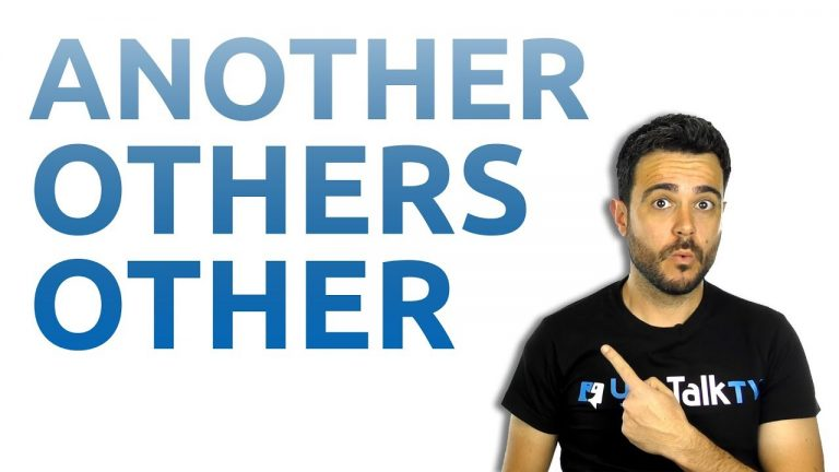 Carlos explica el uso de another, others, other, the other
