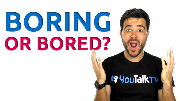 Boring or bored?