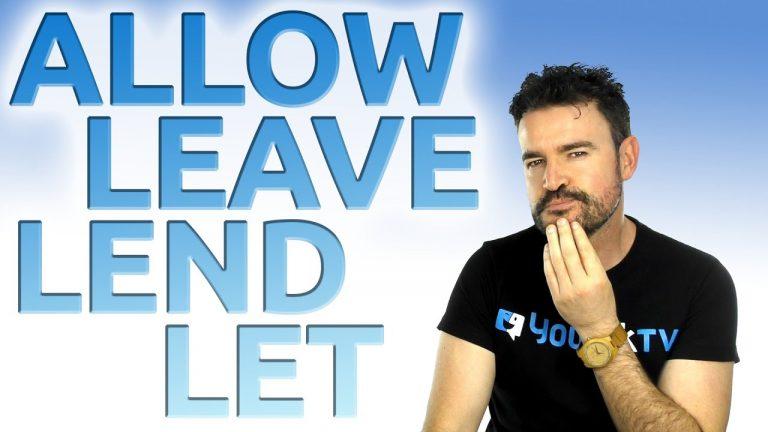 let lend leave allow