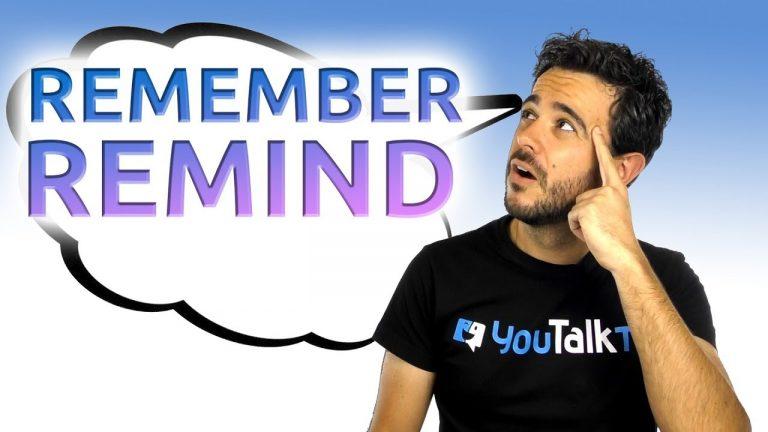 diferencias entre remember y remind