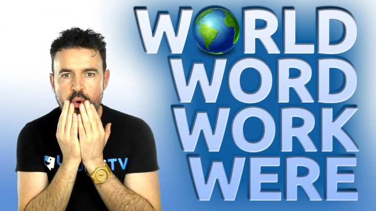Mejora tu pronunciación con world, word, work, were